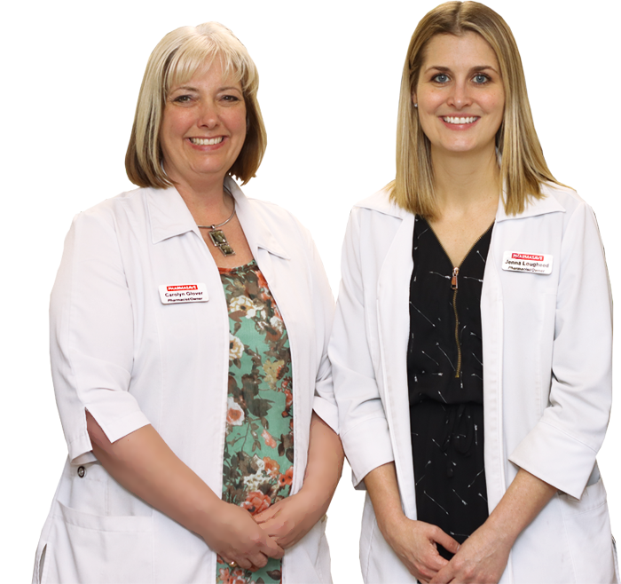 Photo of Carolyn & Jenna - community pharmacist owners of Midhurst Pharmasave